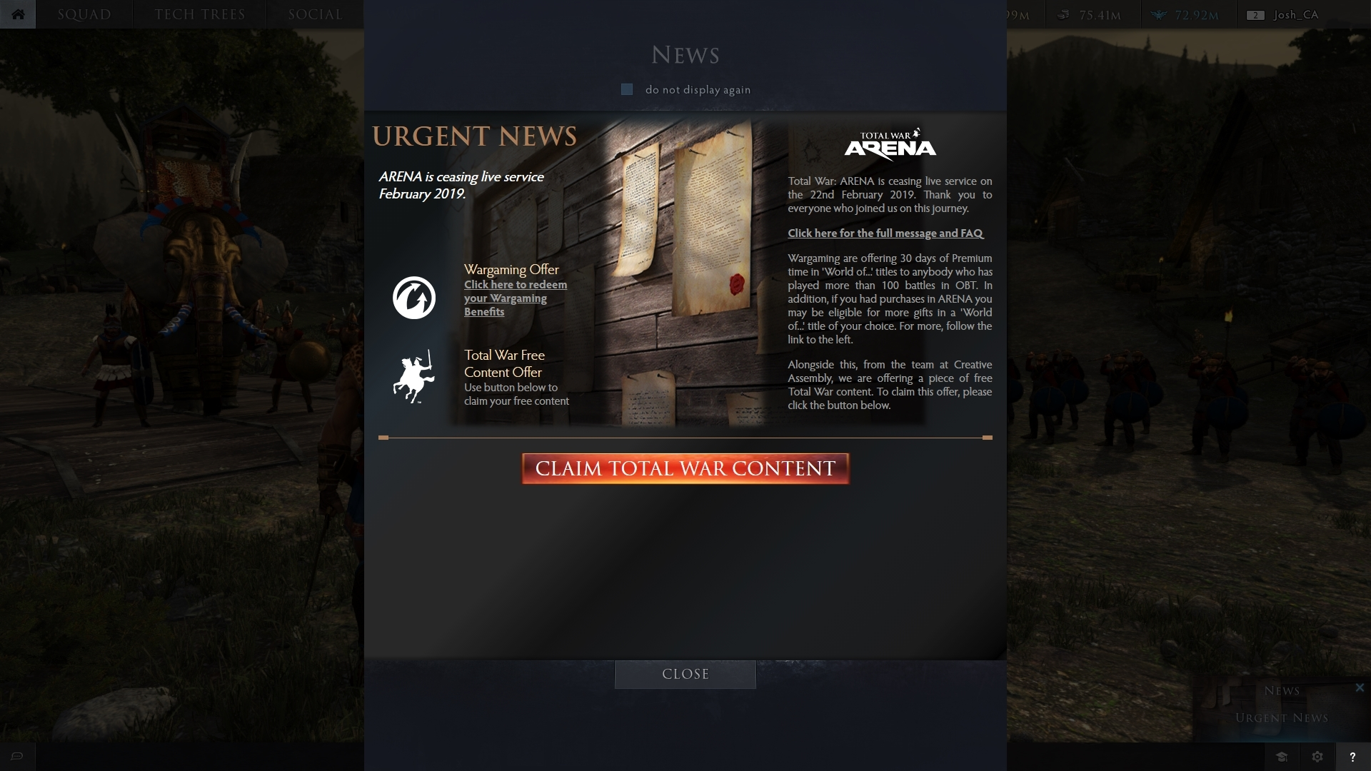 Total War: ARENA – How to Claim Your Free Total War Content - Total War