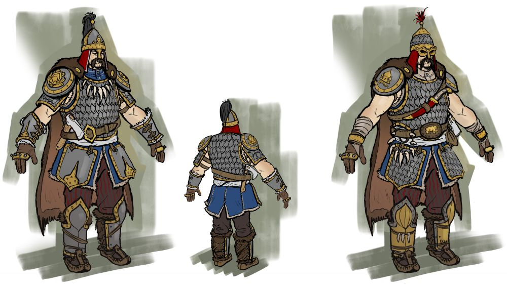 Concept art of the Kislev Armoured Kossars.