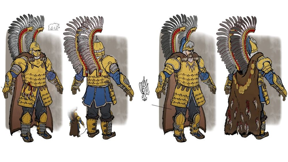 Concept art of the Kislev Gryphon Legion.