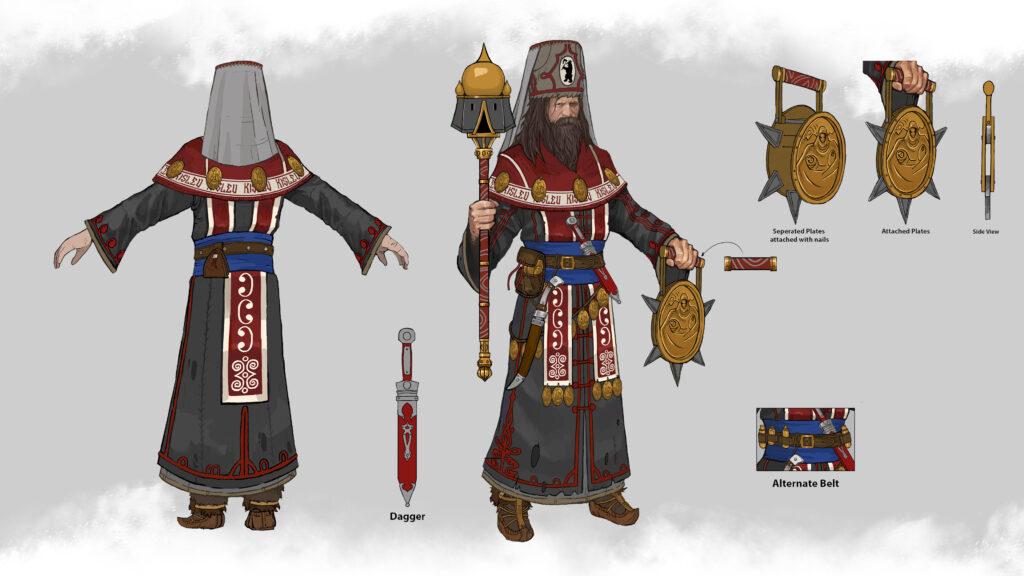 Concept art of a Kislev Patriarch.