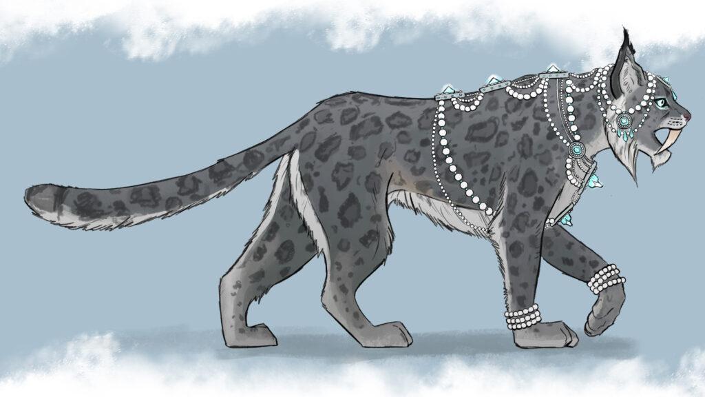 Concept art of the Kislev Snow Leopards.